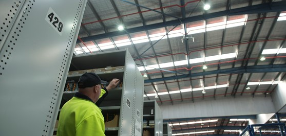 Blackwoods retrofits warehouse with LED lights
