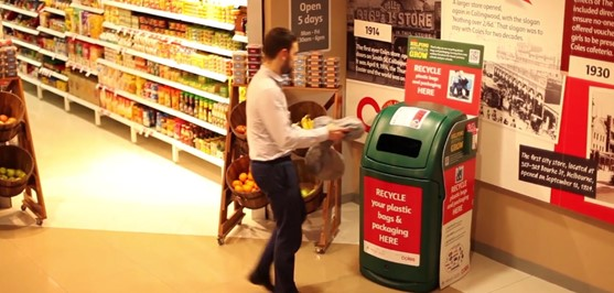 Coles recycles soft plastic packaging for customers in 500 stores