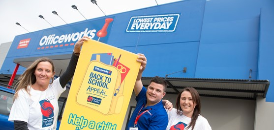 Officeworks collects school supplies for children in need